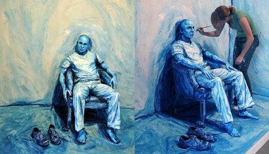 Umetnica koja slika ljude. Ali bukvalno!